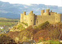 HARLECH CASTLE - Built by Edward 1st, Conquered by Owain Glyndwr.